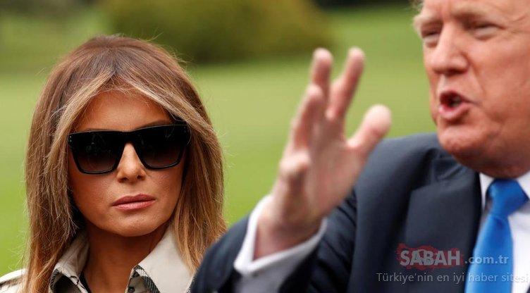 Son Dakika: ABD bu kareyi konuşuyor! Melenia Trump dublör mü kullanıyor?