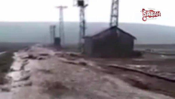 Bitlis'te sağanak yağış taşkınlara neden oldu | Video