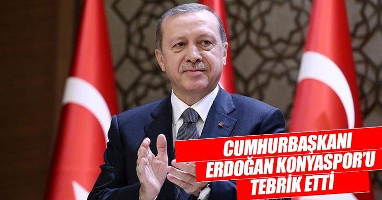 Cumhurbaşkanı Erdoğan'dan Atiker Konyaspor'a tebrik!