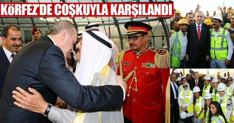 Erdoğan Körfez'de coşkuyla karşılandı