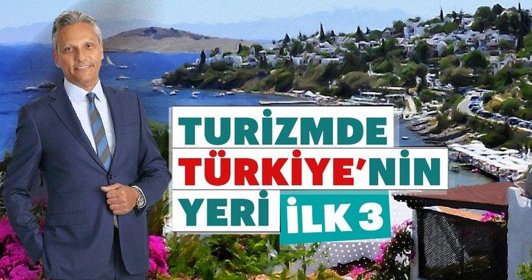 Turizmde Türkiye'nin yeri ilk 3