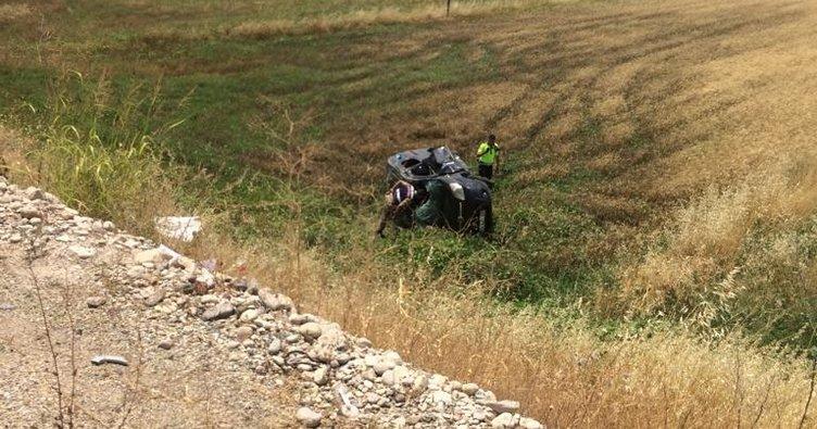 Adıyaman'da hafif ticari araç devrildi: 1 ölü, 5 yaralı
