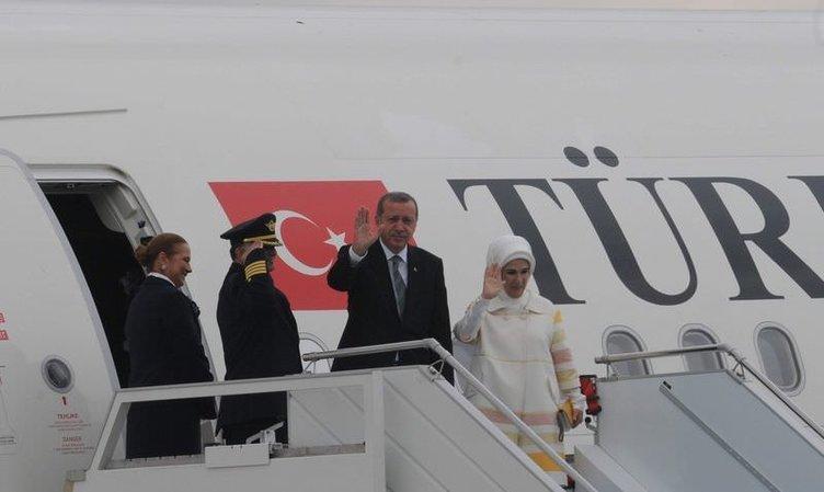 Erdoğan ilk gezisine yeni uçağıyla gitti