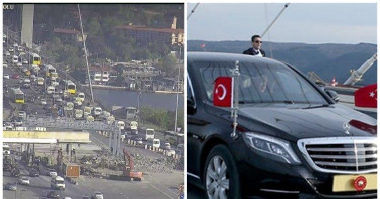 Cumhurbaşkanı Erdoğan, 15 Temmuz anıtı için köprüde inceleme yaptı