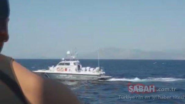 Ege Denizi'nde hareketli dakikalar... Yunan asker Türk balıkçılara silah çekti