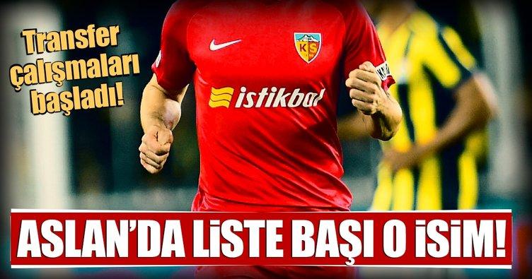 Aslan'da liste başı Atila Turan