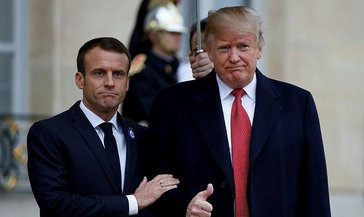 Trump ve Macron corona virüsünü görüştü