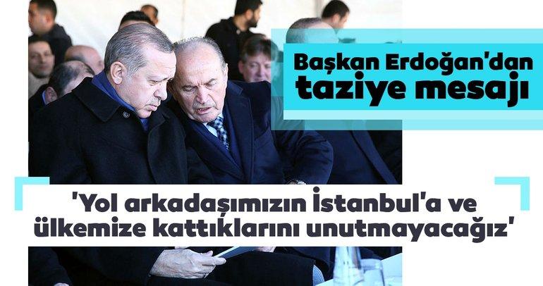 Son dakika: Başkan Erdoğan'dan Kadir Topbaş için taziye mesajı