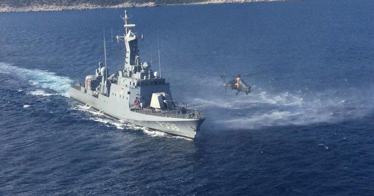 """Milli Savunma Bakanlığı açıkladı: Doğu Akdeniz'de """"Hücümbot-Taarruz Helikopteri Müşterek Eğitimleri"""" icra edildi"""