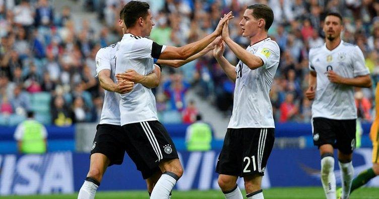 Almanya galibiyetle başladı