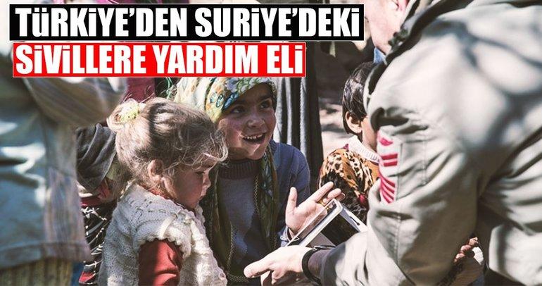 Türkiye'den Suriye'deki sivillere yardım eli