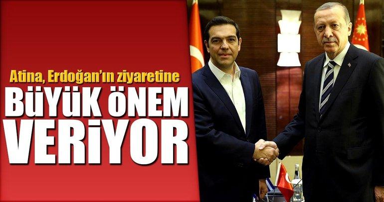 Atina, Erdoğan'ın ziyaretine büyük önem veriyor