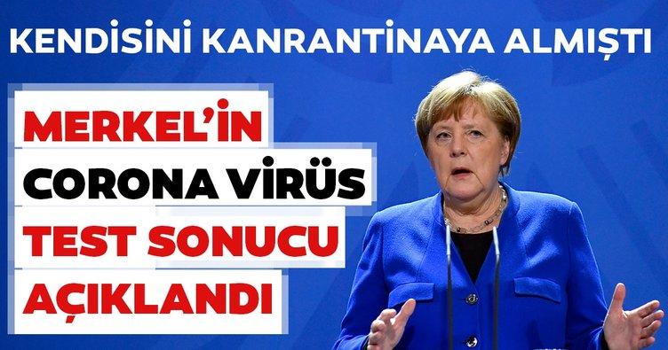 Son dakika: Almanya Başbakanı Angela Merkel'in corona virüs test sonucu belli oldu