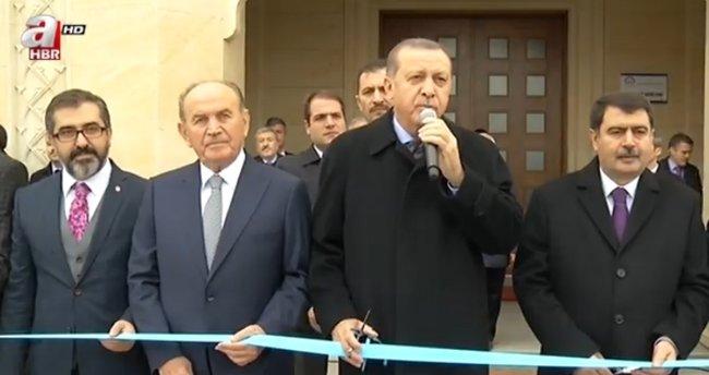 Erdoğan cami açılışında bu mesajı verdi