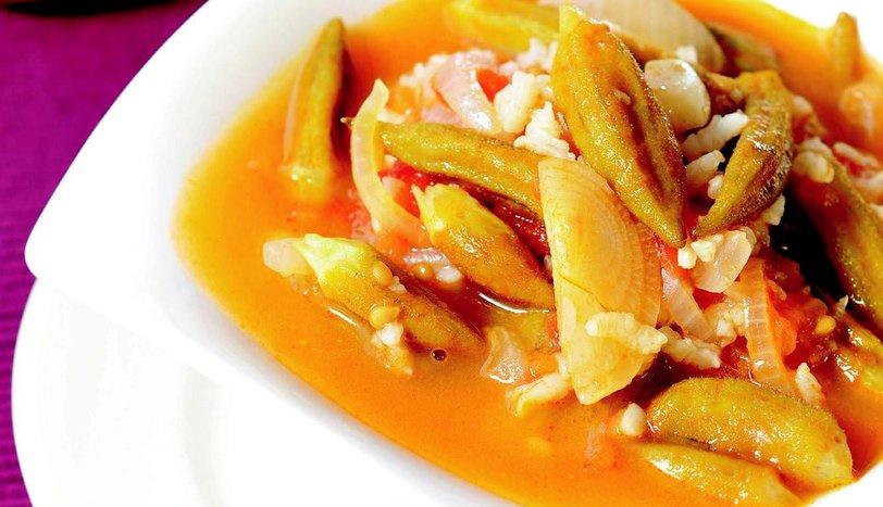 Pirinçli Bamya Çorbası