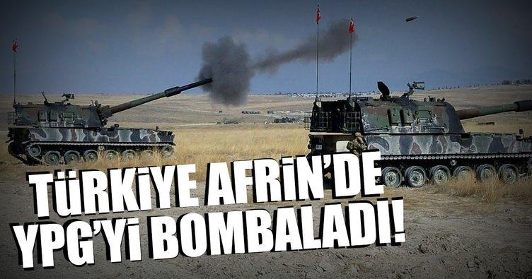 SON DAKİKA: Türkiye Afrin'de YPG'yi bombaladı!