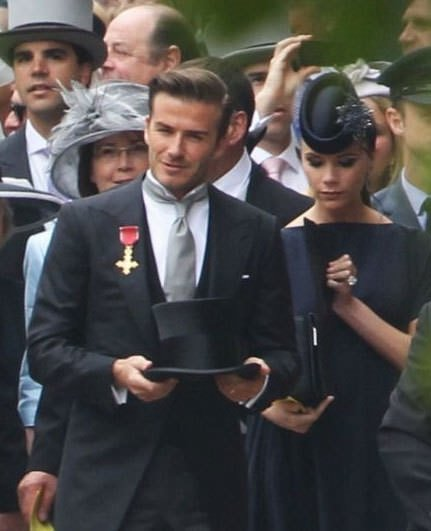 Beckham çifti Kraliyet Düğününde