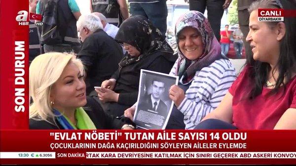 HDP'nin dağa kaçırdığı evlatları için eylem yapan aile sayısı 14 oldu!