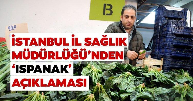 Son dakika haberi: İstanbul İl Sağlık Müdürlüğü, yaşanan ıspanak zehirlenmeleriyle ilgili açıklama