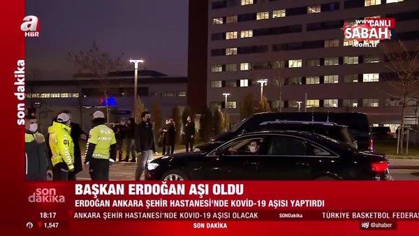 Son dakika haberi: Başkan Erdoğan Ankara Şehir Hastanesi'nde corona virüsü aşısı yaptırdı | Video