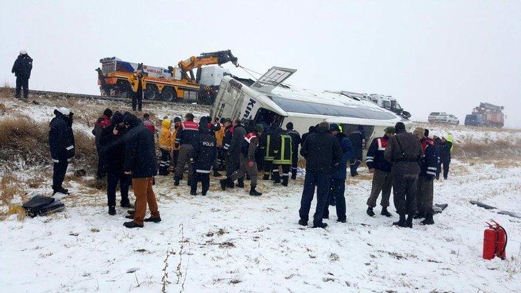 Kırşehir'de feci kaza