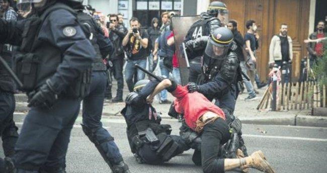 Fransız polisinden orantısız güç