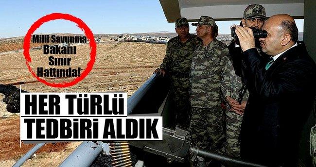 Savunma Bakanı Işık sınırda