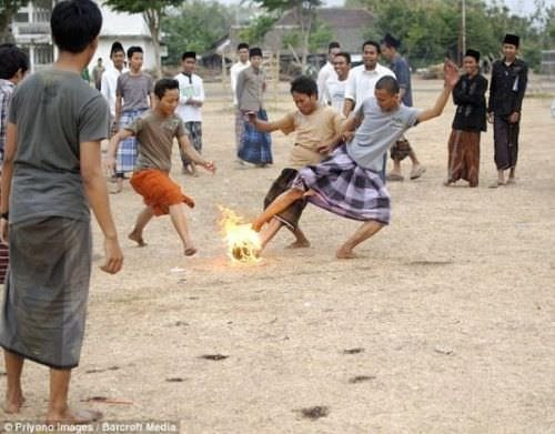 En ateşli futbol!