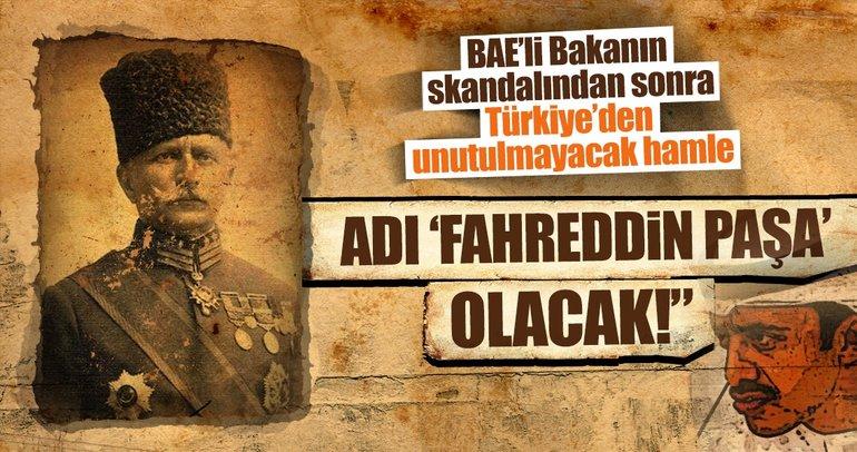 BAE Büyükelçiliğinin bulunduğu sokağa Fahreddin Paşa ismi verilecek
