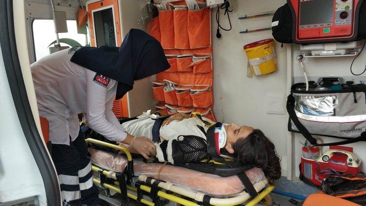 Kaza sonrası genç kızdan eniştesine tepki!