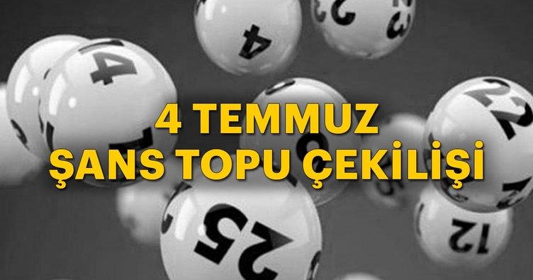 Son dakika: Şans Topu çekiliş sonucu belli oldu! 4 Temmuz 2018 Milli Piyango Şans Topu çekiliş sonuçları