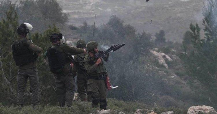 İşgalci İsrail askerleri, Batı Şeria'da zeytin fidanı diken Filistinlilere saldırdı