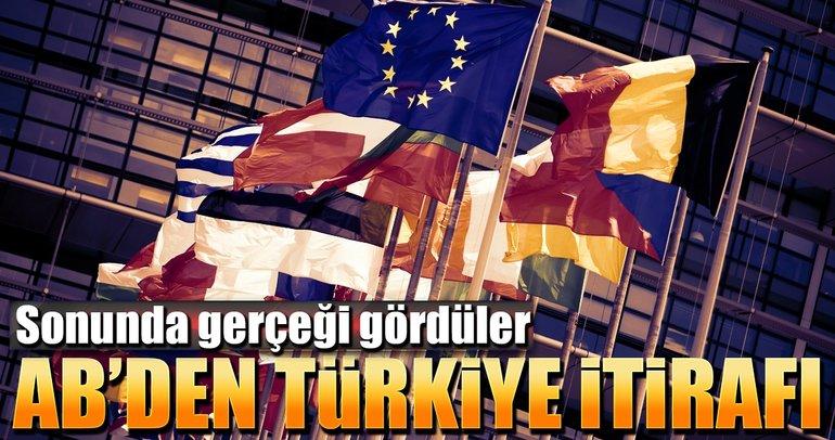 AB'den Türkiye itirafı