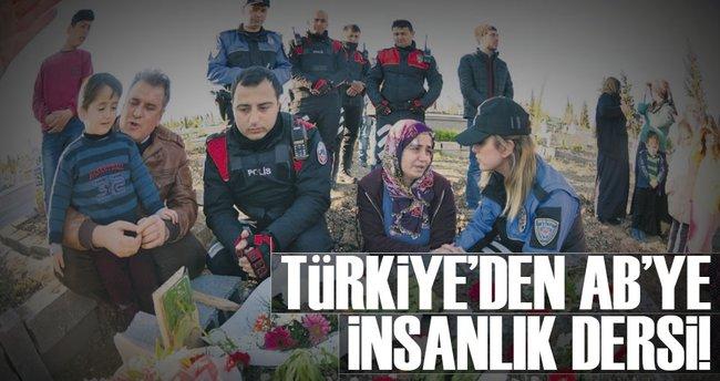 Türkiye'den AB'ye insanlık dersi