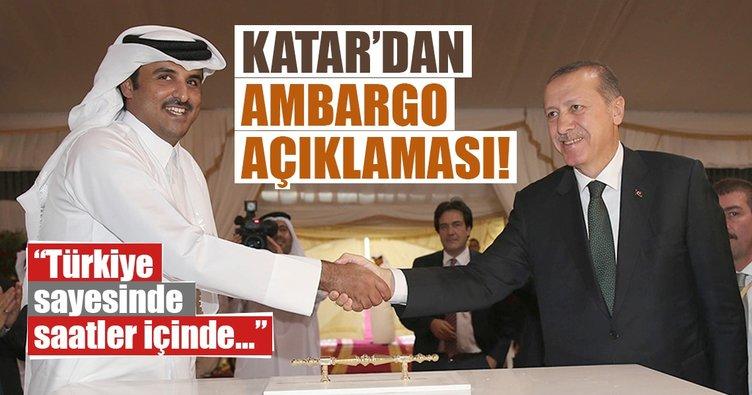 Katar: Ambargoyu saatler içinde Türkiye sayesinde kırdık