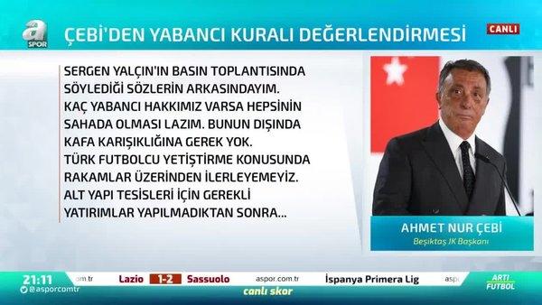 Ahmet Nur Çebi: Yabancı sınırı yerine teşvik daha iyi