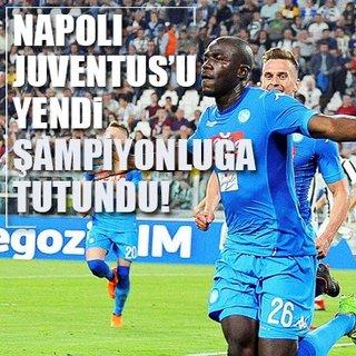 Napoli, Juventus'u yendi �ampiyonlu�a tutundu