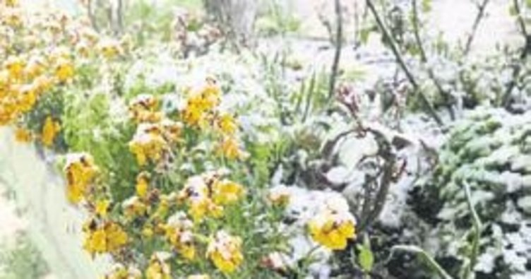 Denızlı'ye nısan ayında kar yağdı