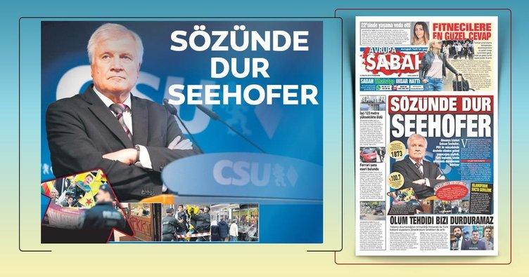 Sözünde dur Seehofer