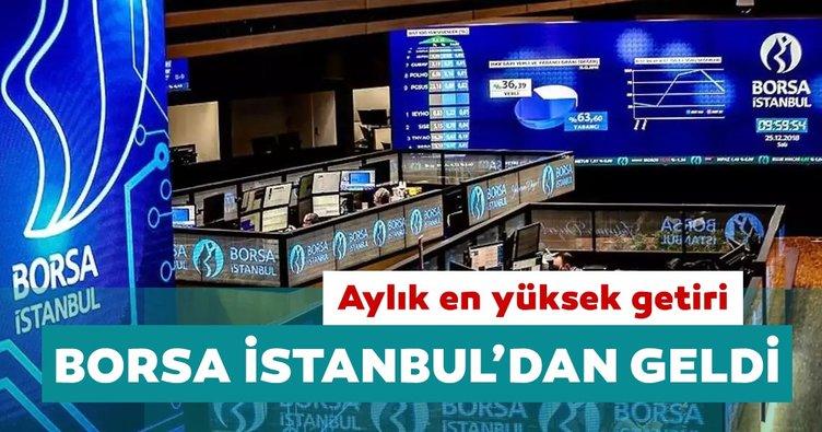 Aylık en yüksek reel getiri Borsa İstanbul'da oldu
