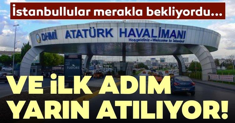 Atatürk Havalimanı'nda Millet Bahçesi için ilk adım yarın atılıyor