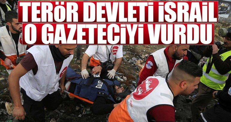 Terör devleti İsrail o gazeteciyi vurdu