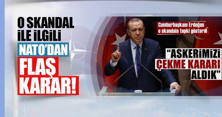 Cumhurbaşkanı Erdoğan'ın duyurduğu skandalla ilgili NATO'dan özür mektubu