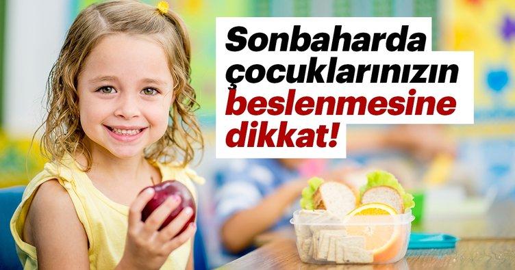 Sonbaharda çocuklarınızın beslenmesine dikkat!