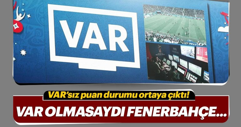 VAR olmasaydı puan durumu nasıl olurdu? Galatasaray, Beşiktaş, Fenerbahçe, Trabzonspor...
