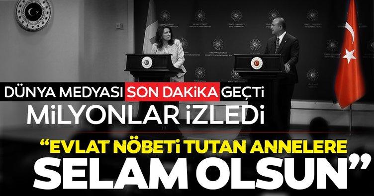Son dakika haberi: Bakan Çavuşoğlu İsveçli bakana ders verdi, sosyal medya yıkıldı