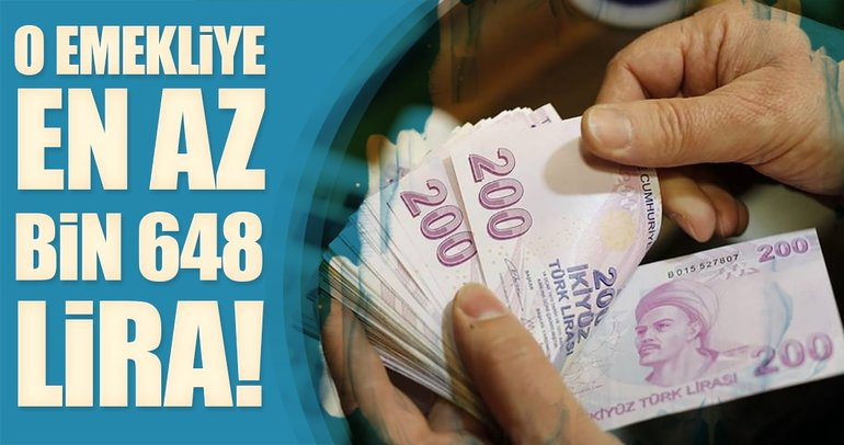 SSK emeklisine en az bin 648 lira!