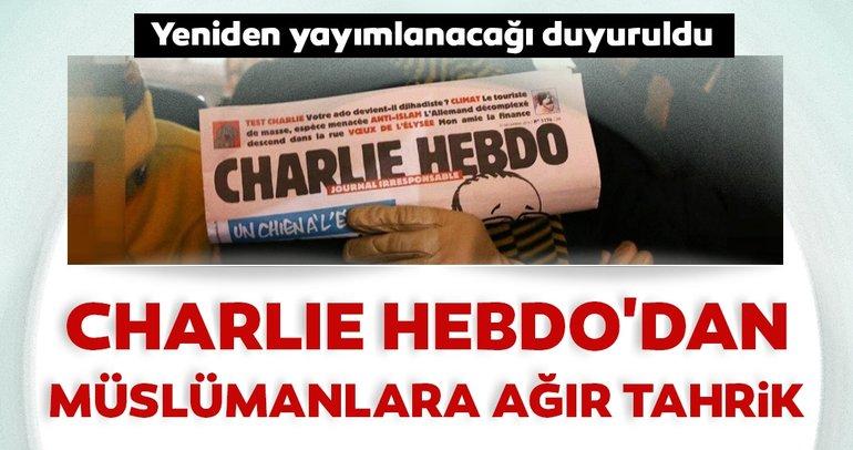 Son dakika: Charlie Hebdo'dan Müslümanlara ağır tahrik