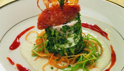 Buharda Pişirilmiş Sebzeli Levrek Fileto