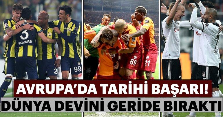 UEFA, kulüpler sıralamasını açıkladı! İşte Galatasaray, Fenerbahçe ve Beşiktaş'ın sırası